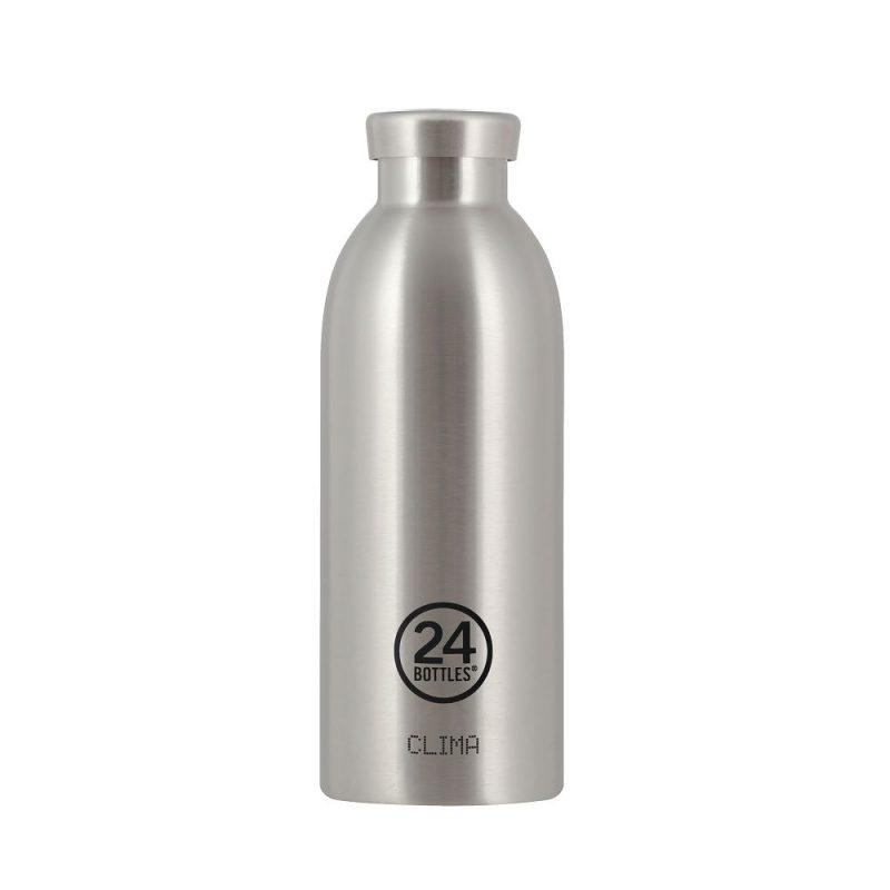 義大利 24Bottles 不鏽鋼雙層保溫瓶 500ml (不鏽鋼)