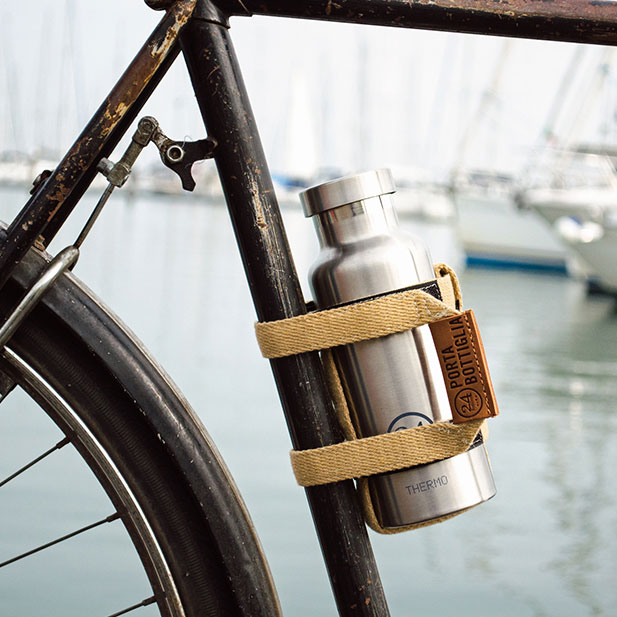 義大利 24Bottles 手工再生棉水瓶架 (卡其)