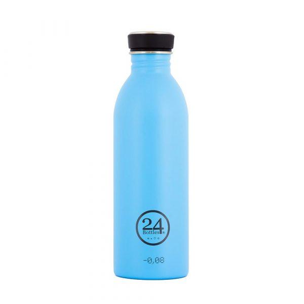 義大利 24Bottles 城市水瓶 500ml (冰湖藍)