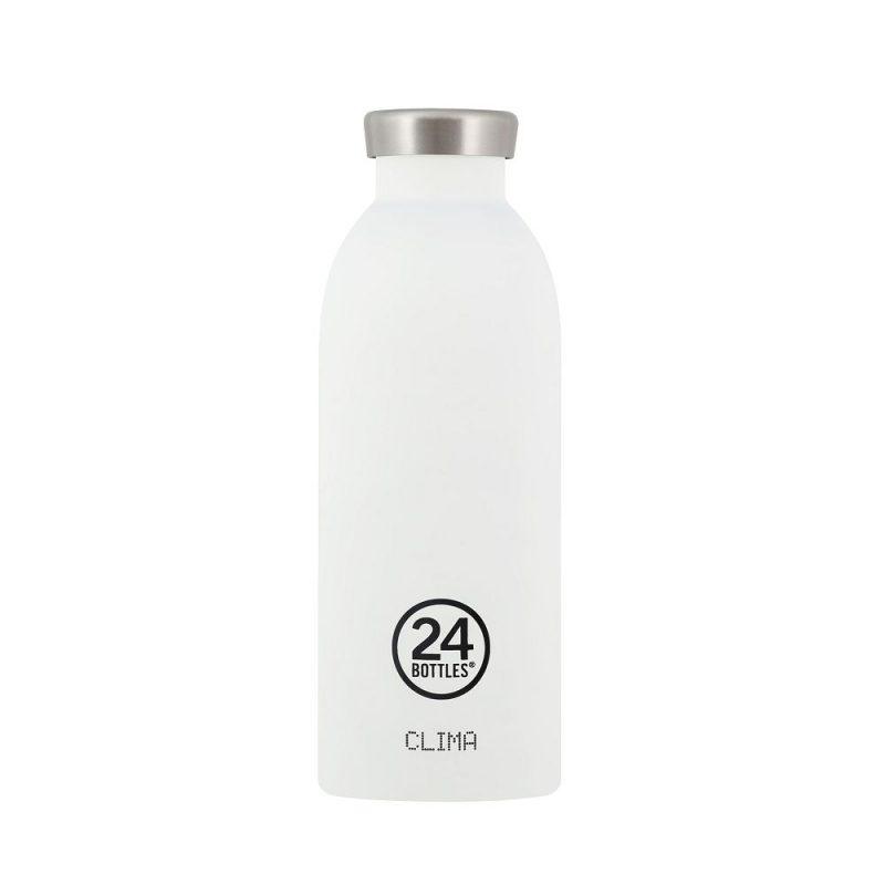 義大利 24Bottles 不鏽鋼雙層保溫瓶 500ml (冰雪白)