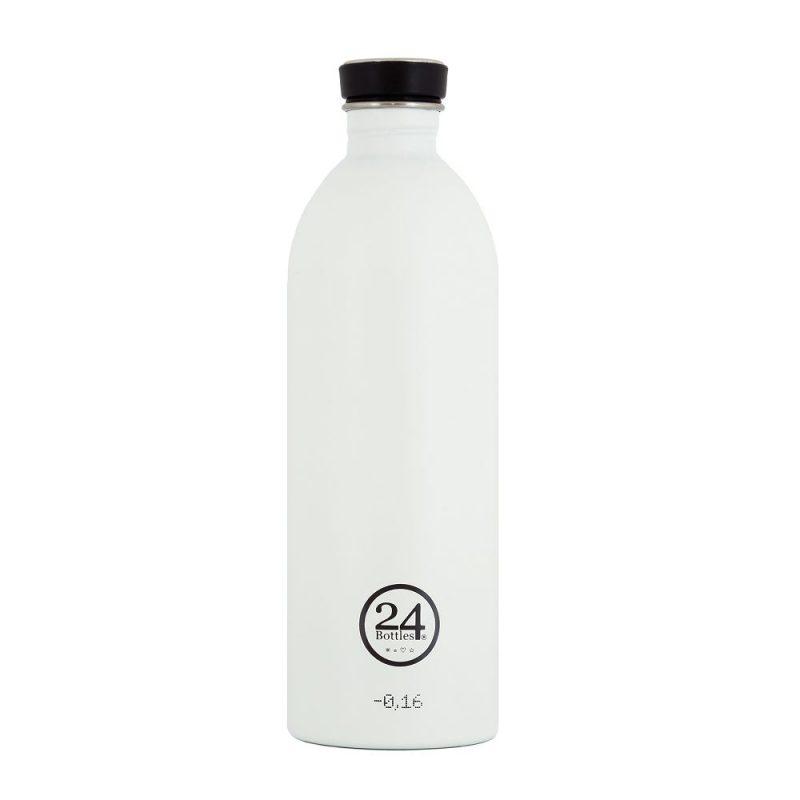 義大利 24Bottles 城市水瓶 1000ml (冰雪白)