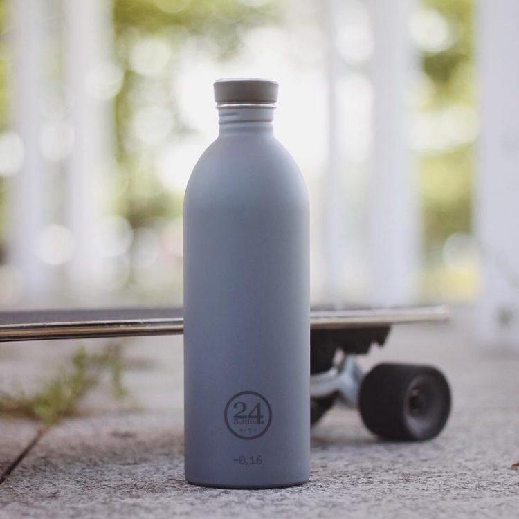 義大利 24Bottles 城市水瓶 1000ml (雅典灰)
