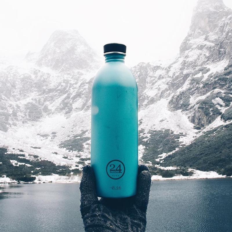 義大利 24Bottles 城市水瓶 1000ml (海灣藍)