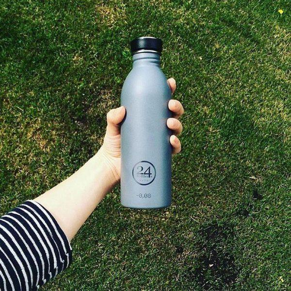 義大利 24Bottles 城市水瓶 500ml (雅典灰)