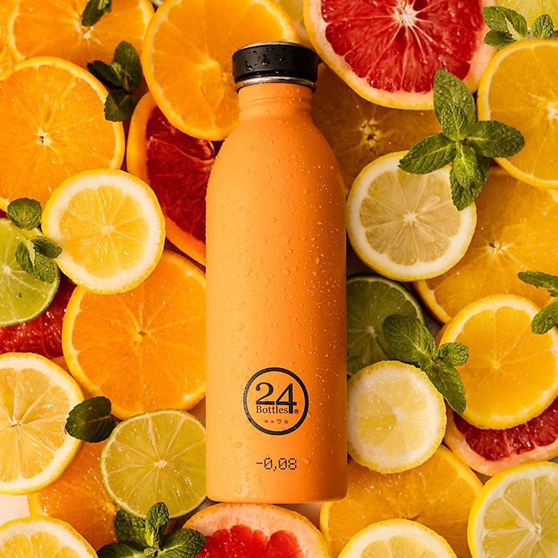 義大利 24Bottles 城市水瓶 500ml (極致橙)