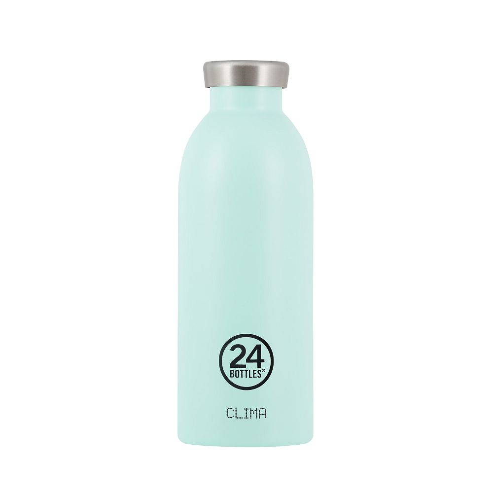 義大利 24Bottles 不鏽鋼雙層保溫瓶 500ml (天空藍)