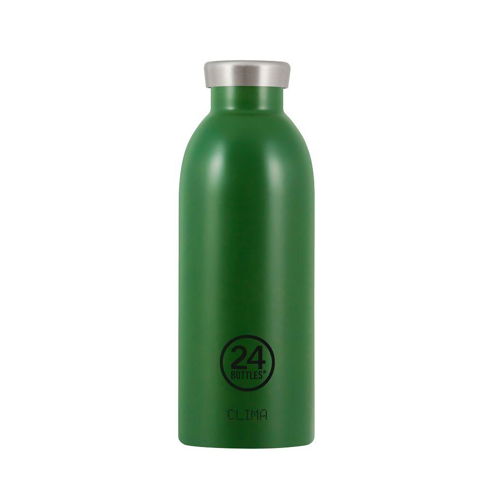 義大利 24Bottles 不鏽鋼雙層保溫瓶 500ml (森林綠)