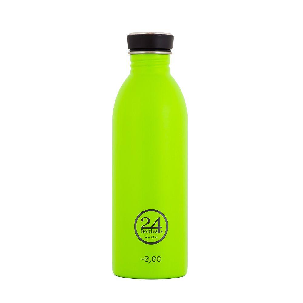 義大利 24Bottles 輕量冷水瓶 500ml (檸檬綠)