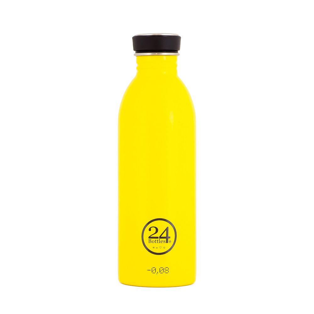 義大利 24Bottles 輕量冷水瓶 500ml (的士黃)