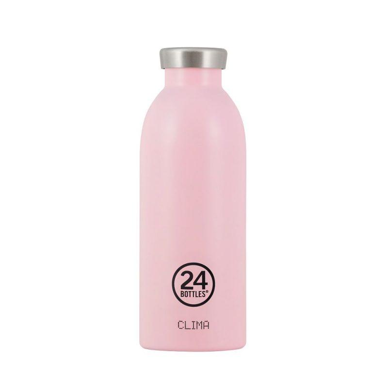 義大利 24Bottles 不鏽鋼雙層保溫瓶 500ml (糖果粉)