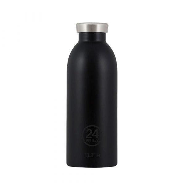 義大利 24Bottles 不鏽鋼雙層保溫瓶 500ml (紳士黑)
