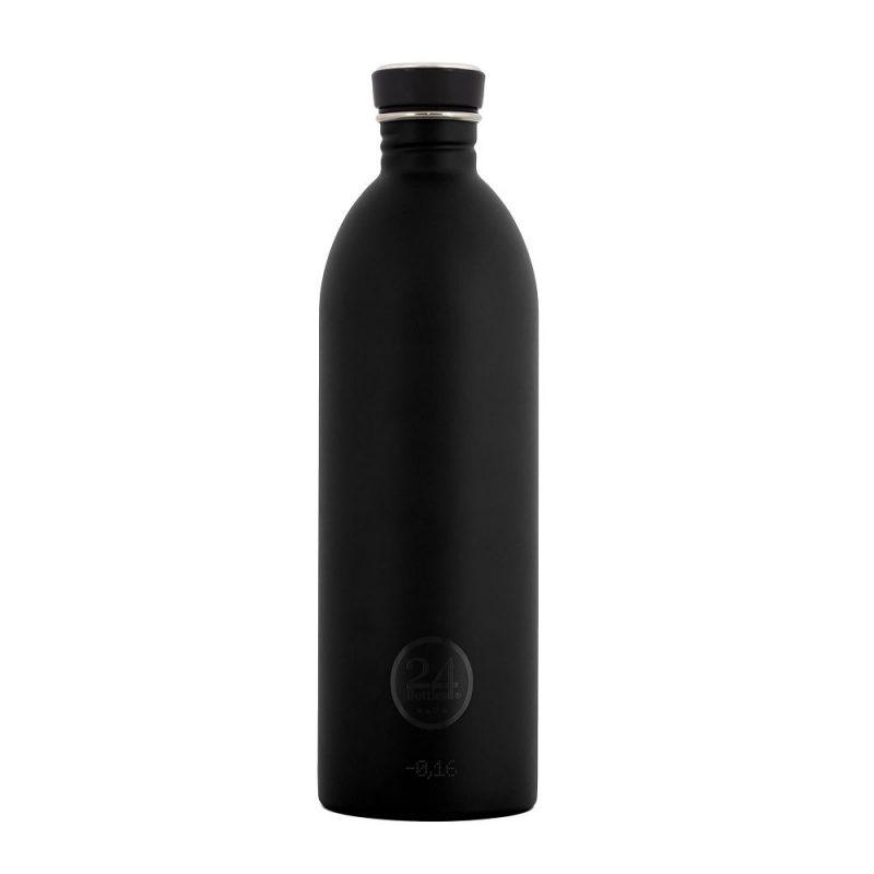 義大利 24Bottles 輕量冷水瓶 1000ml (紳士黑)