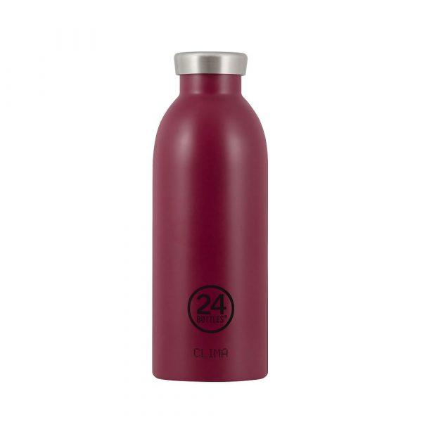義大利 24Bottles 不鏽鋼雙層保溫瓶 500ml (酒釀紅)