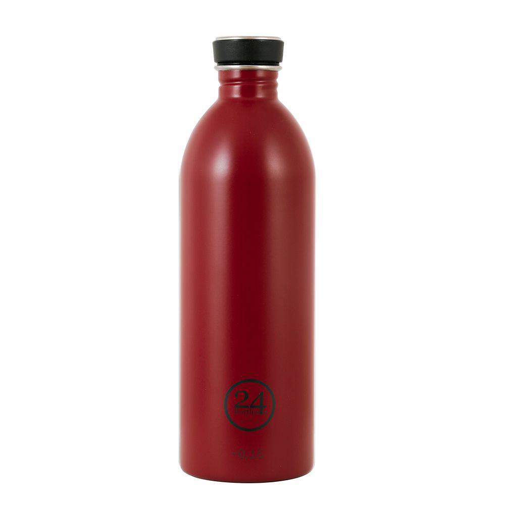 義大利 24Bottles 輕量冷水瓶 1000ml (酒釀紅)