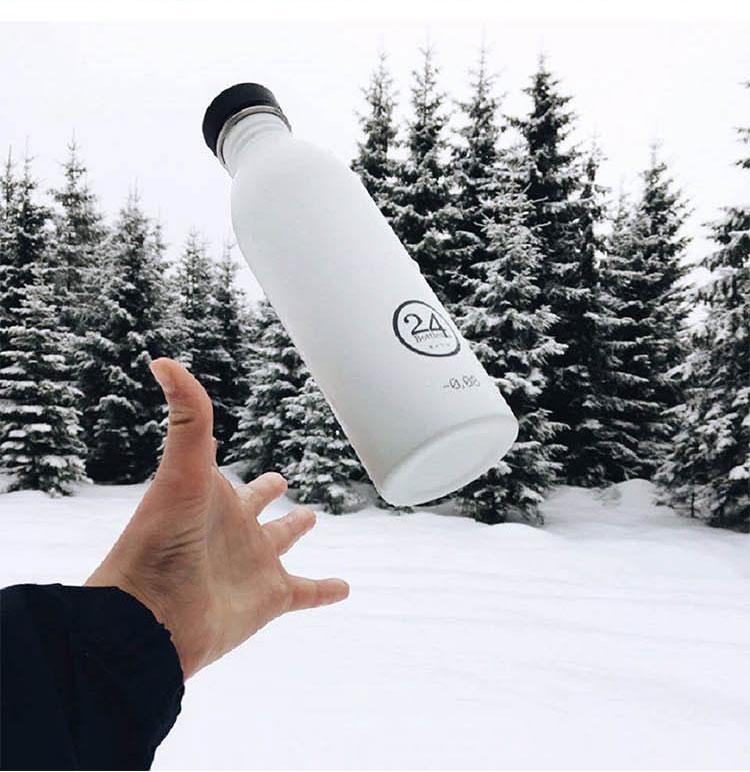 義大利 24Bottles 城市水瓶 500ml (熱情粉)