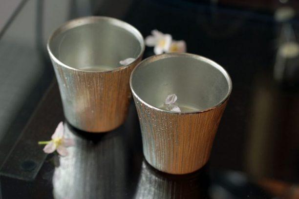 日本 SHIROKANE 冰柱錫酒杯組 160ml (2入)