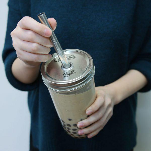 美國 Ball 梅森罐 珍奶必備手搖飲料杯組 24oz 寬口