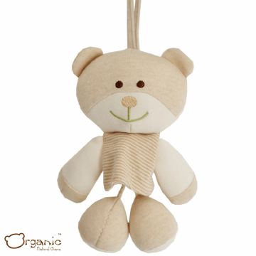 Organic_有機棉嬰兒玩具_搖籃音樂鈴_小熊