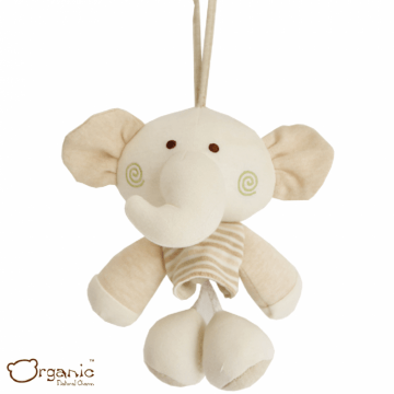 Organic_有機棉嬰兒玩具_搖籃音樂鈴_小象