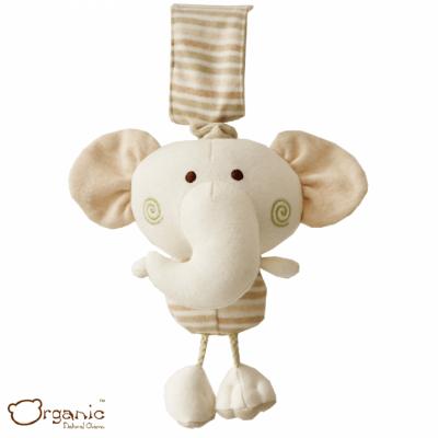 Organic_有機棉嬰兒玩具_樂樂音樂鈴_小象