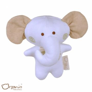 Organic_有機棉嬰兒玩具_啾咪安撫娃娃_小象