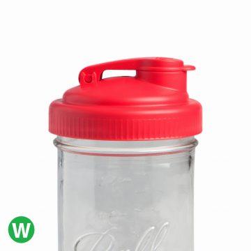 美國 reCAP 梅森罐專用 飲料隨行杯蓋 (紅色)