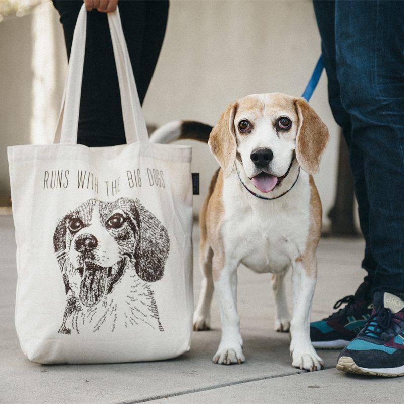 P.L.A.Y. 環保購物袋 米格魯