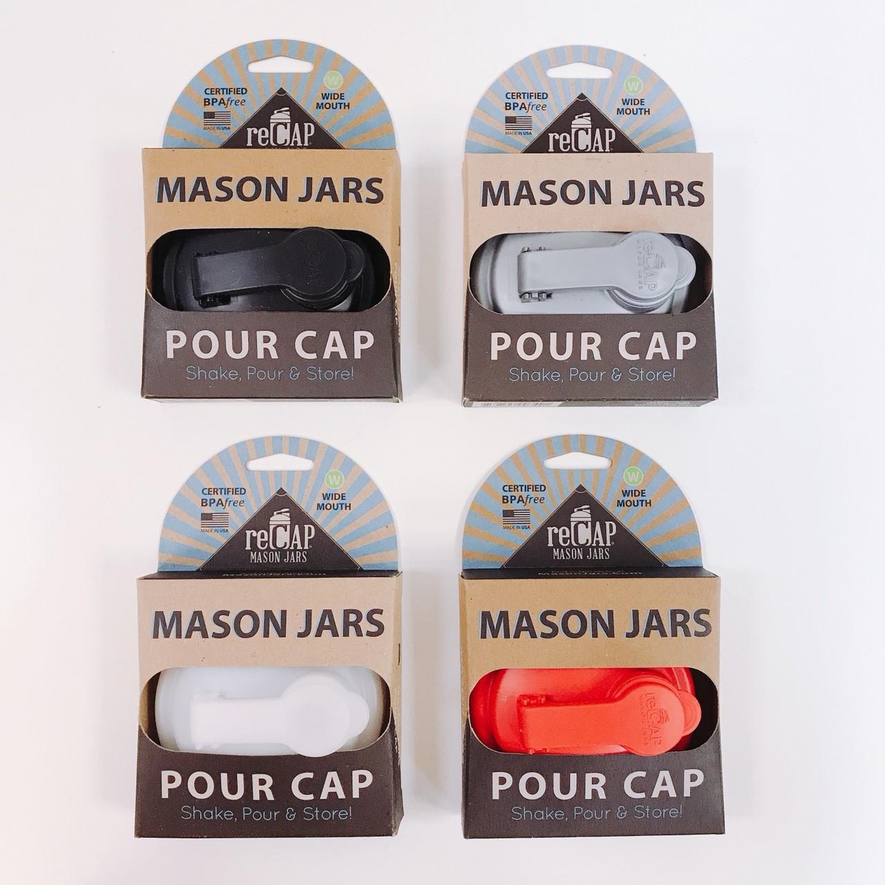 美國 reCAP 梅森罐專用 飲料隨行杯蓋 (黑色)