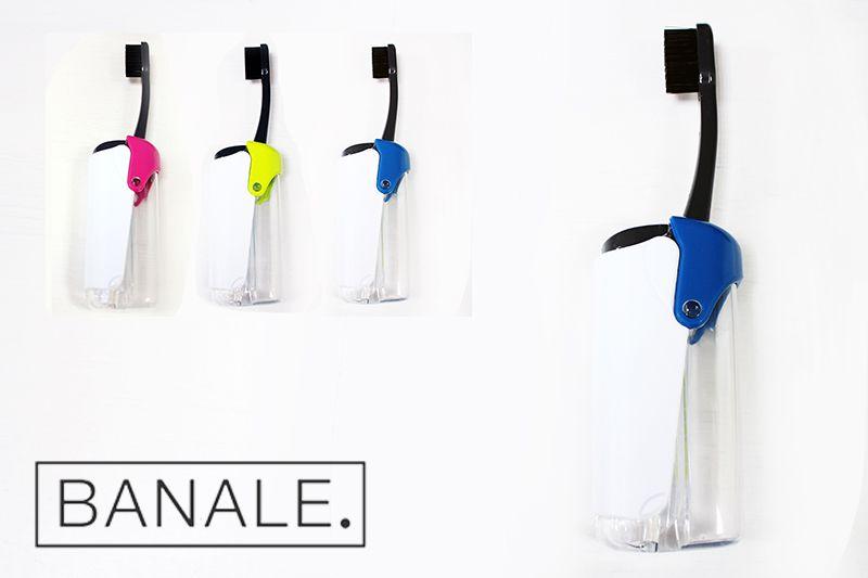 義大利 BANALE 隨身旅用牙刷組 (透明&Blue + 補充包)