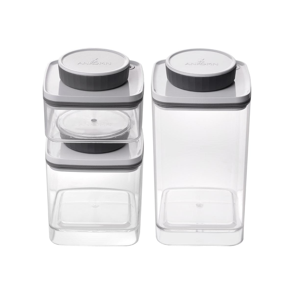 ANKOMN Turn-N-Seal 真空保鮮盒 1.2L+0.6L+0.3L