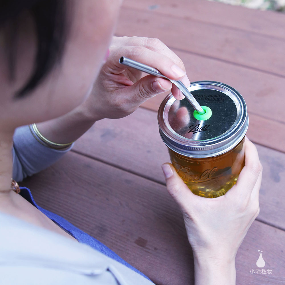 Ball 梅森罐 BPA-Free 彩色吸管鐵片(寬口)