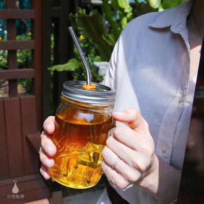 美國 Ball 梅森罐 繽紛吸管孔飲料杯組 窄口系列