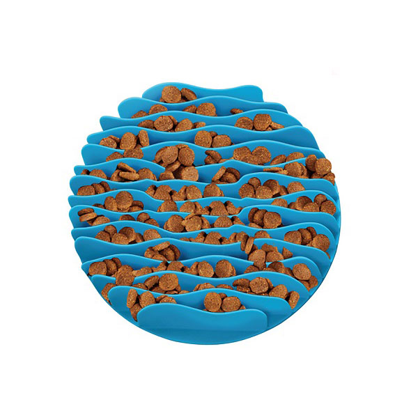Outward Hound 波浪慢食碗 S 加勒比海藍