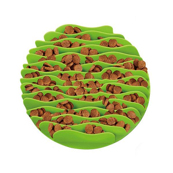 Outward Hound 波浪慢食碗 L 綠色