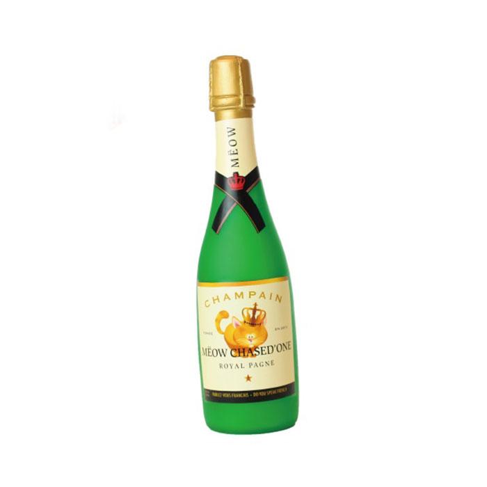 美國 Silly Squeakers 啾啾酒瓶系列 喵德烈香檳氣泡酒瓶玩具 (小)