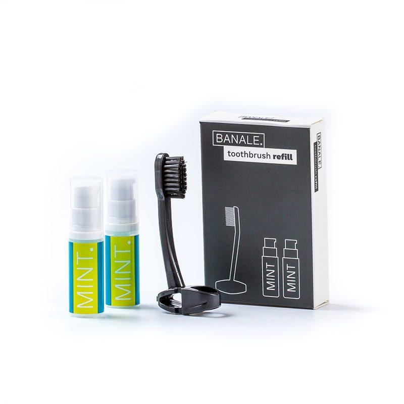 義大利 BANALE 牙刷&牙膏 補充包 2入