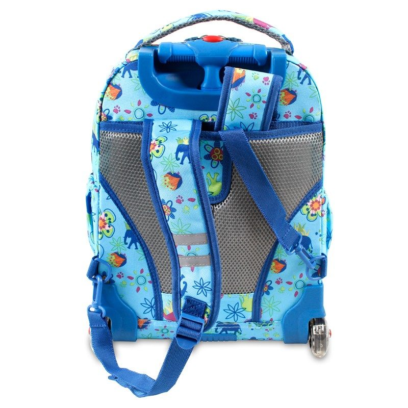 美國 JWorld 拉桿後背兩用書包旅行箱 奇幻叢林款 加贈午餐袋