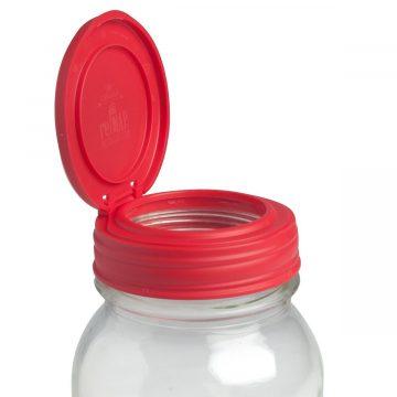 美國 reCAP Flip 梅森罐專用 窄口多功能杯蓋 紅色