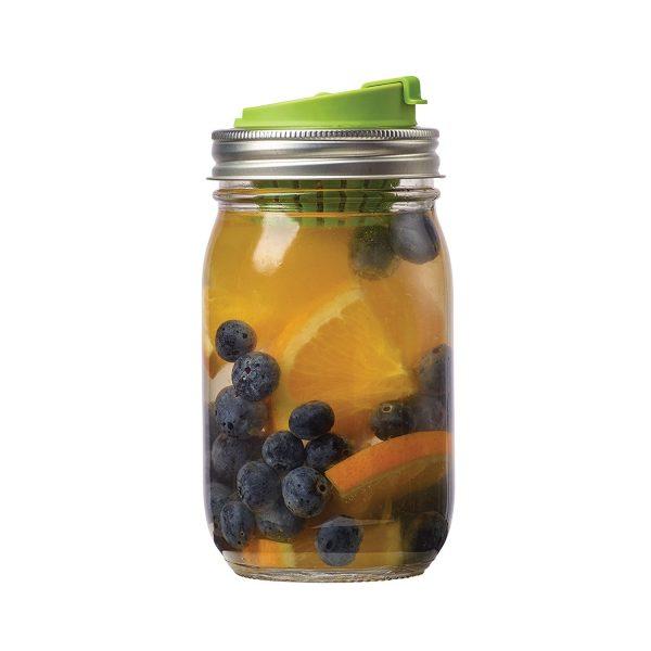 美國 JARWARE 梅森罐專用 窄口冷泡茶蓋