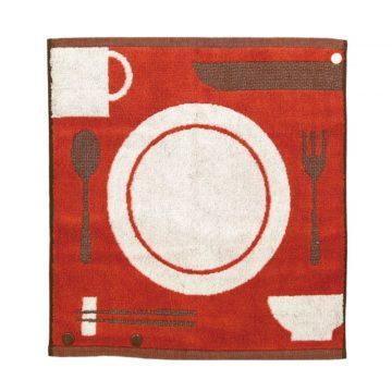 日本 今治毛巾 池內有機 桃莉三合一有機棉方巾 餐具款
