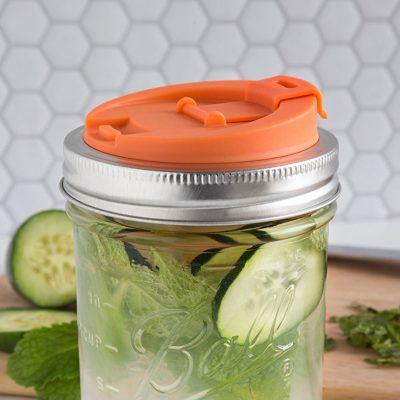 美國 JARWARE 梅森罐專用 寬口冷泡茶蓋