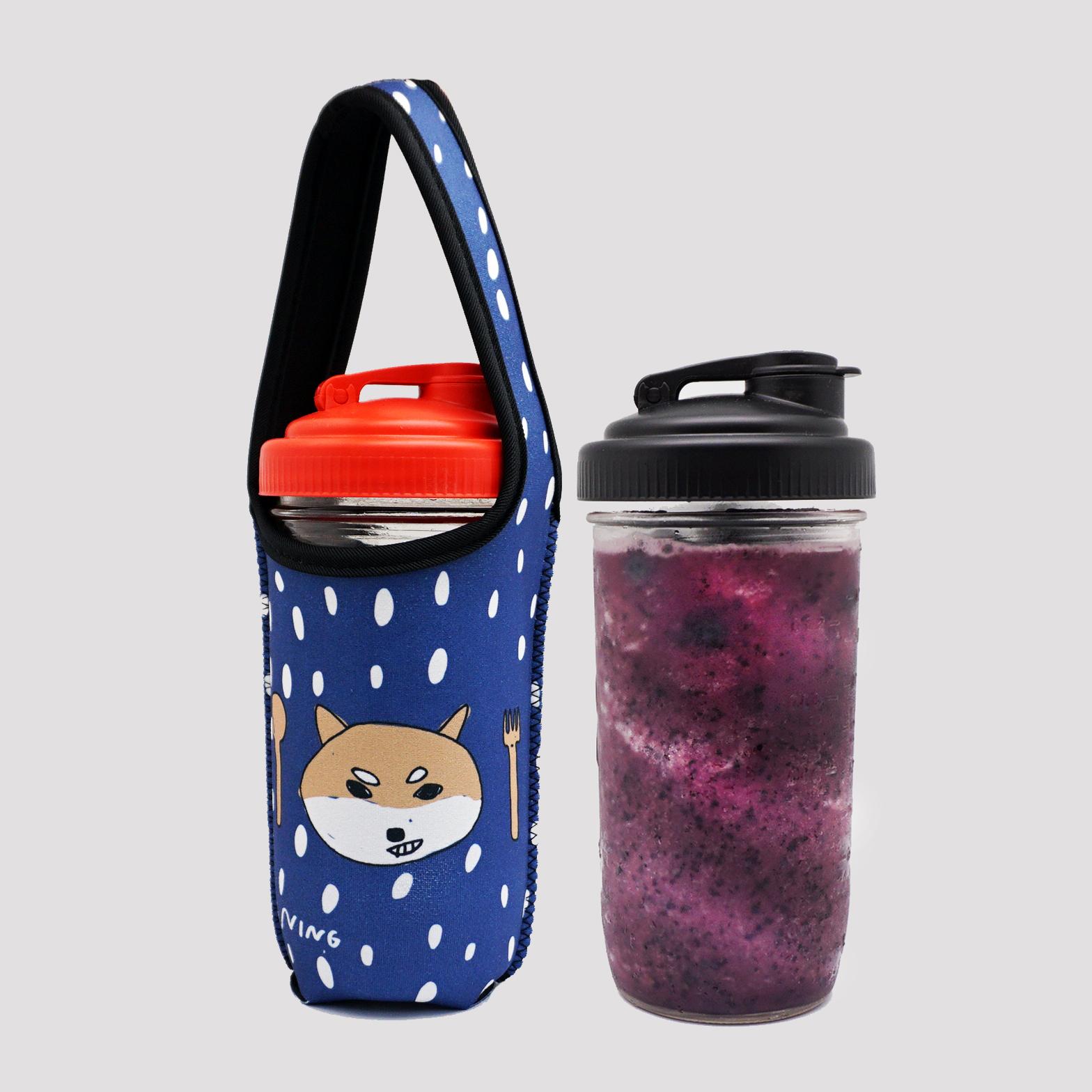 BLR 24oz梅森罐 reCAP 飲料杯袋組合 藍底柴犬