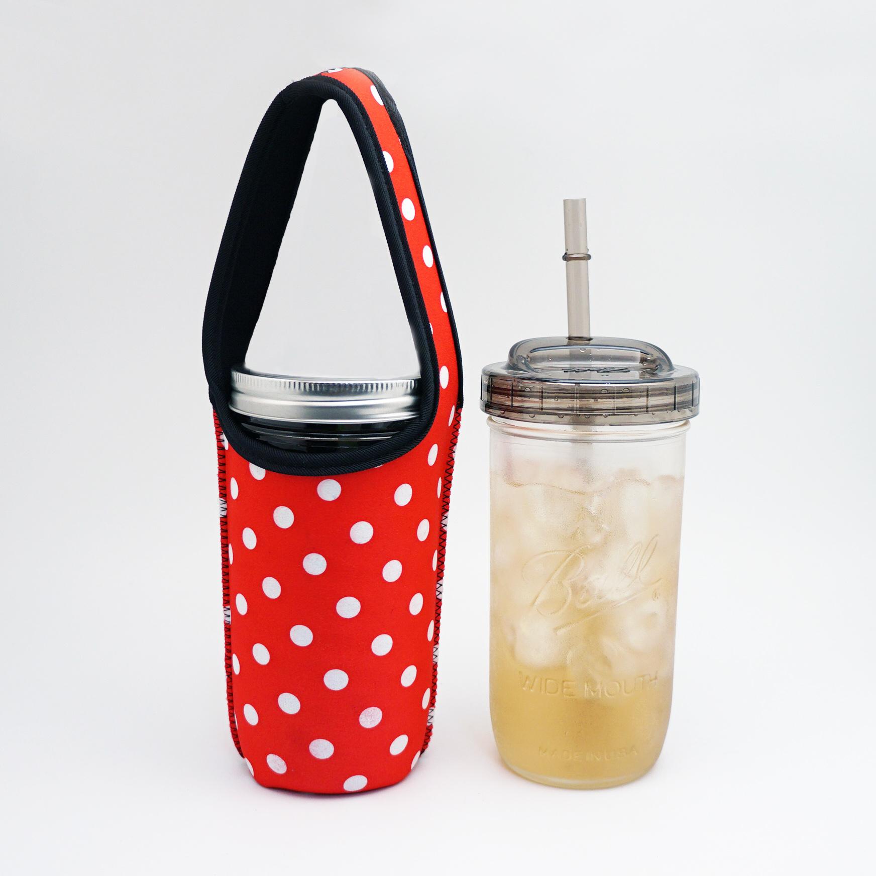 BLR 24oz梅森罐搖搖飲料杯袋組 紅底白點
