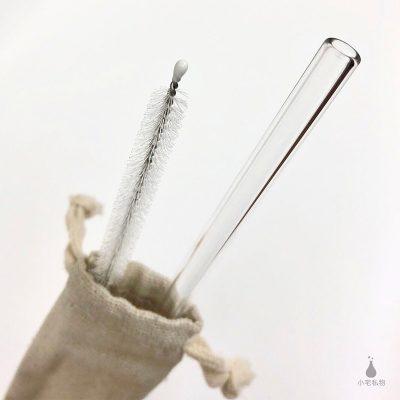 梅森專用斜口玻璃吸管組合 (直) 附贈清潔刷、束口袋