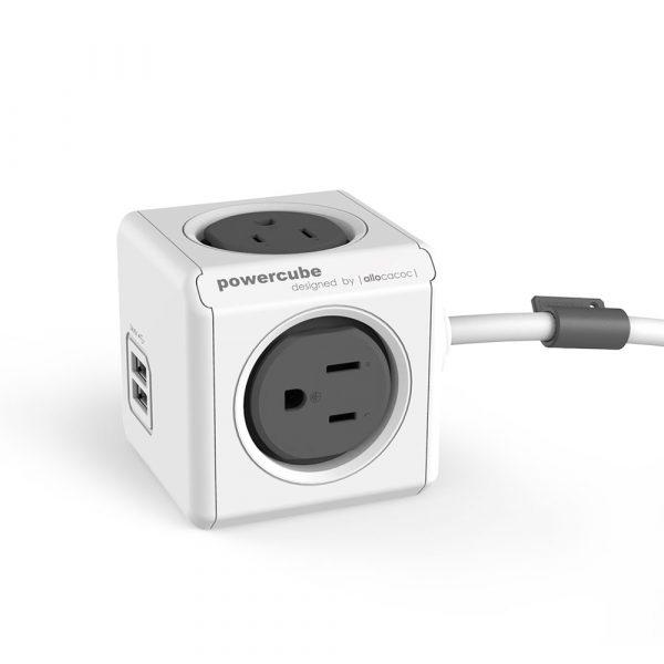荷蘭 PowerCube USB兩用延長線3m 灰色