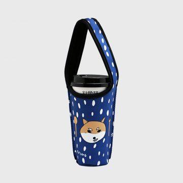 BLR 環保 飲料提袋 杯袋 張寧 聯名款 藍 柴犬