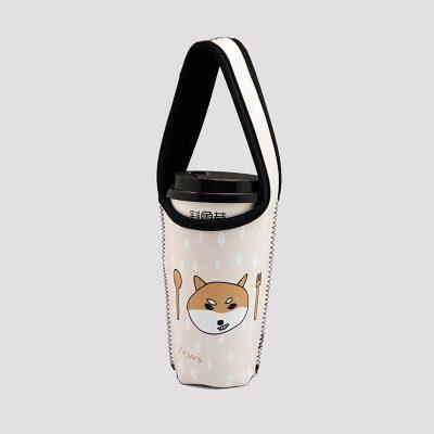 BLR 環保 飲料提袋 杯袋 張寧 聯名款 米 柴犬