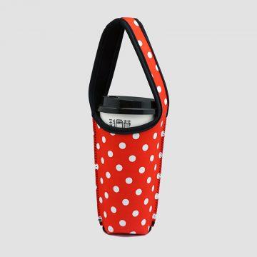 BLR 環保 飲料提袋 保冷保溫 防碰撞 水玉點點紅