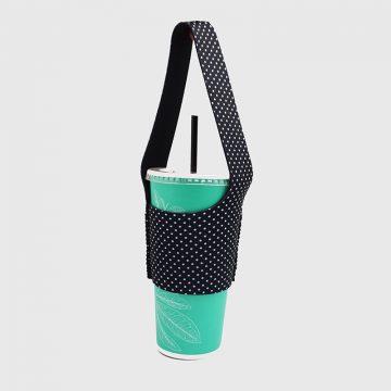 BLR 環保飲料提袋 杯袋 袋我走 黑白小水玉