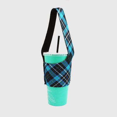 BLR 環保飲料提袋 杯袋 袋我走 藍格紋
